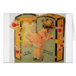 Carte vintage de Saint-Valentin d'emballage de fil