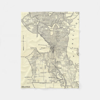 Carte vintage de Seattle (1914)