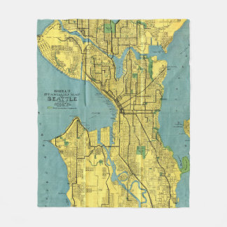 Carte vintage de Seattle Washington (1914) Couverture Polaire