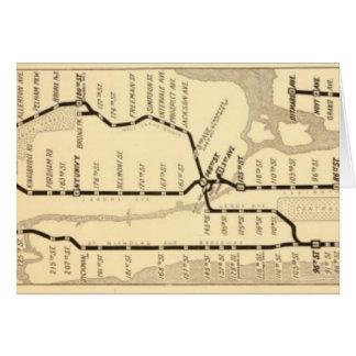 Carte vintage de souterrain de New York