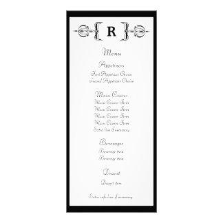 Carte vintage de support de menu de mariage de