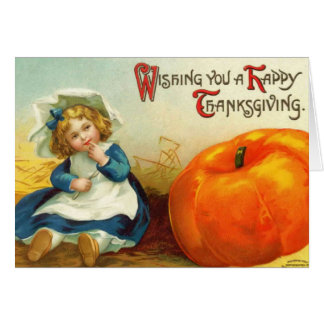 Carte vintage de thanksgiving