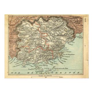 Carte vintage de variété, France