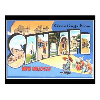 Carte vintage de voyage de Santa Fe