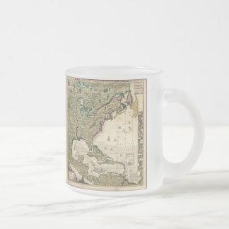 Carte vintage des Amériques 1733 Tasses