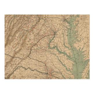 Carte vintage des champs de bataille de la