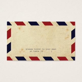 Carte vintage d'escorte de par avion