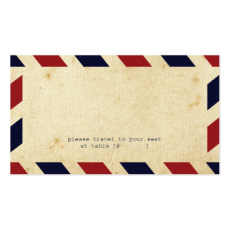 Carte vintage d'escorte de par avion carte de visite standard