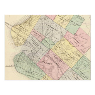Carte vintage d'Oakland la Californie (1878)