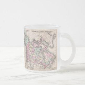 Carte vintage du Canada (1857) Mug