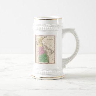 Carte vintage du Delaware (1827) Mugs