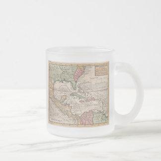 Carte vintage du des Caraïbes 1732 Mugs À Café