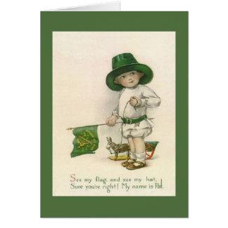 Carte vintage du jour de petit St Patrick
