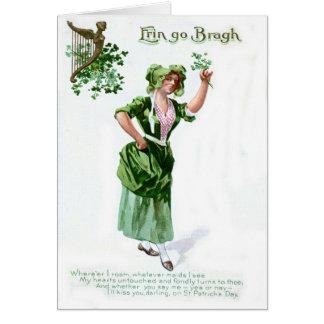 Carte vintage du jour de premier St Patrick de