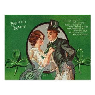 Carte vintage du jour de St Patrick irlandais de