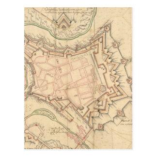 Carte vintage du Luxembourg (1686)