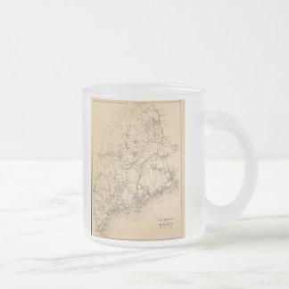 Carte vintage du Maine 1894 Tasse À Café