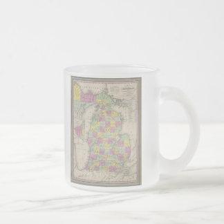 Carte vintage du Michigan 1853 Mugs À Café