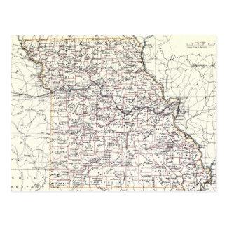 Carte vintage du Missouri (1883)