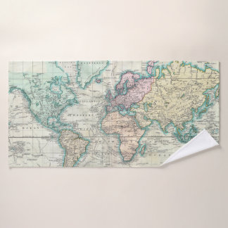 Carte vintage du monde (1801)