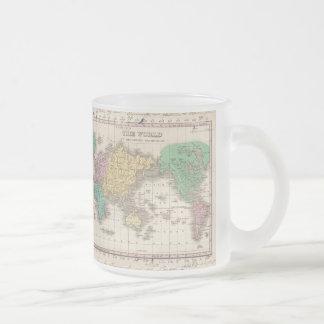 Carte vintage du monde 1827 mug à café