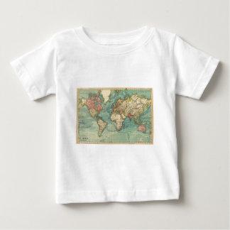 Carte vintage du monde t-shirt pour bébé