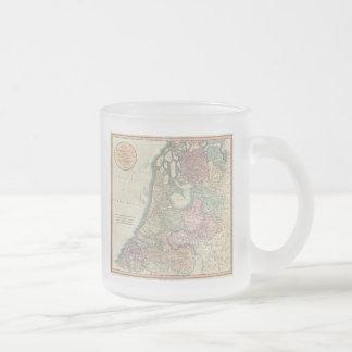 Carte vintage du néerlandais (1799) tasses à café