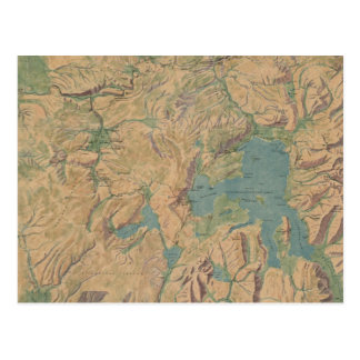 Carte vintage du parc national de Yellowstone