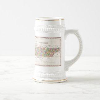 Carte vintage du Tennessee (1827) Mug