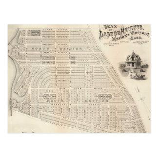 Carte vintage du vignoble de Marthas (1873)