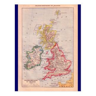 Carte vintage, îles britanniques, circa 1920 carte postale