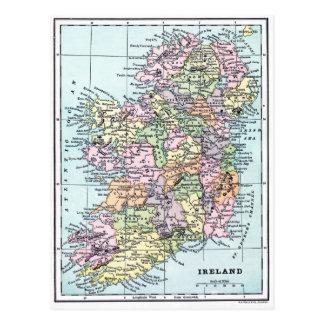 Carte vintage - Irlande