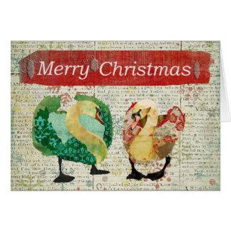 Carte vintage observée étoilée de Joyeux Noël de c