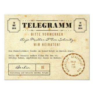 Carte Vintage télégramme save date the