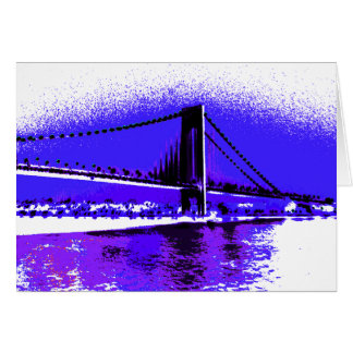 Carte violette de pont de Verrazano
