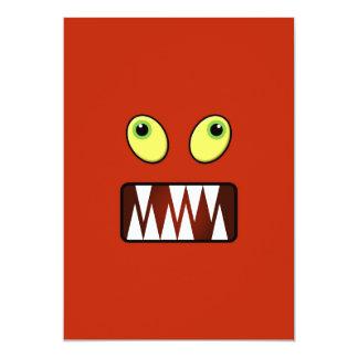 Carte Visage drôle de monstre