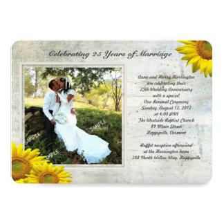 Carte Voeux de mariage de renouvellement de photo grunge