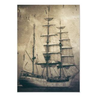 Carte Voilier vintage de navigation de mer nautique
