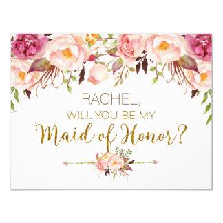 Carte Volonté florale de ressort vous soyez domestique