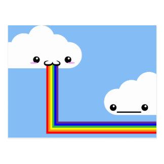 Carte vomissante d'arc-en-ciel de nuage