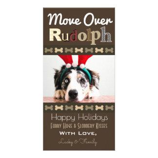 Carte Votre renne de Noël de chiens