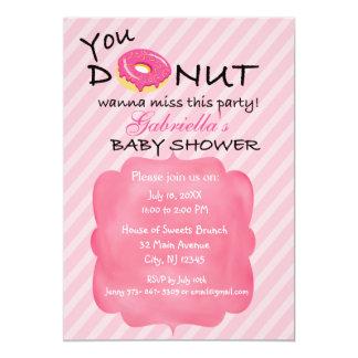Carte Vous BEIGNET voulez à l'invitation de baby shower