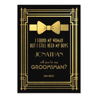 Carte Vous serez mes grands Gatsby garçons d'honneur de