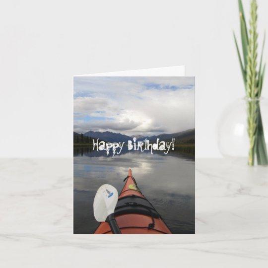Carte Voyage De Kayak Joyeux Anniversaire Zazzle Fr
