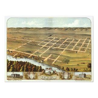 Carte Vue d'oeil d'oiseau de nouvel Ulm, Minnesota
