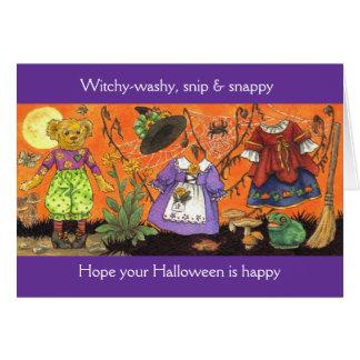 Carte Washy de Witchy Halloween