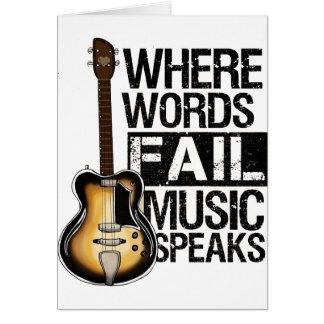 "Carte «Where Words Fail Music Speaks """