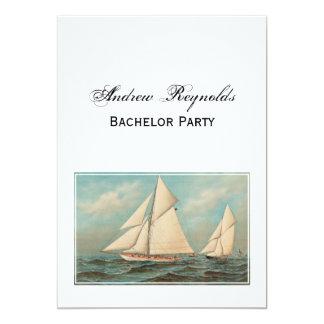 Carte Yachts vintages nautiques emballant #1