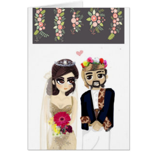 carte yéménite de faire-part de mariage