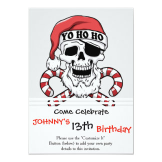 Carte Yo ho ho - pirate père Noël - le père noël drôle